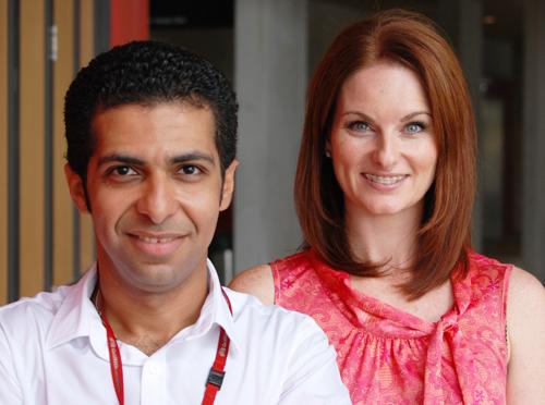 Dr Mahmoud Bakr and Dr Emma Skerman