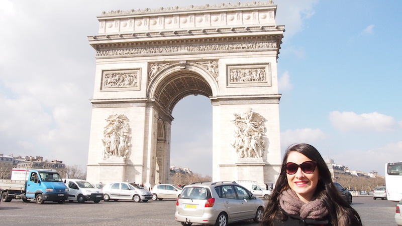 Primary education graduate Allanah Secis in Paris.