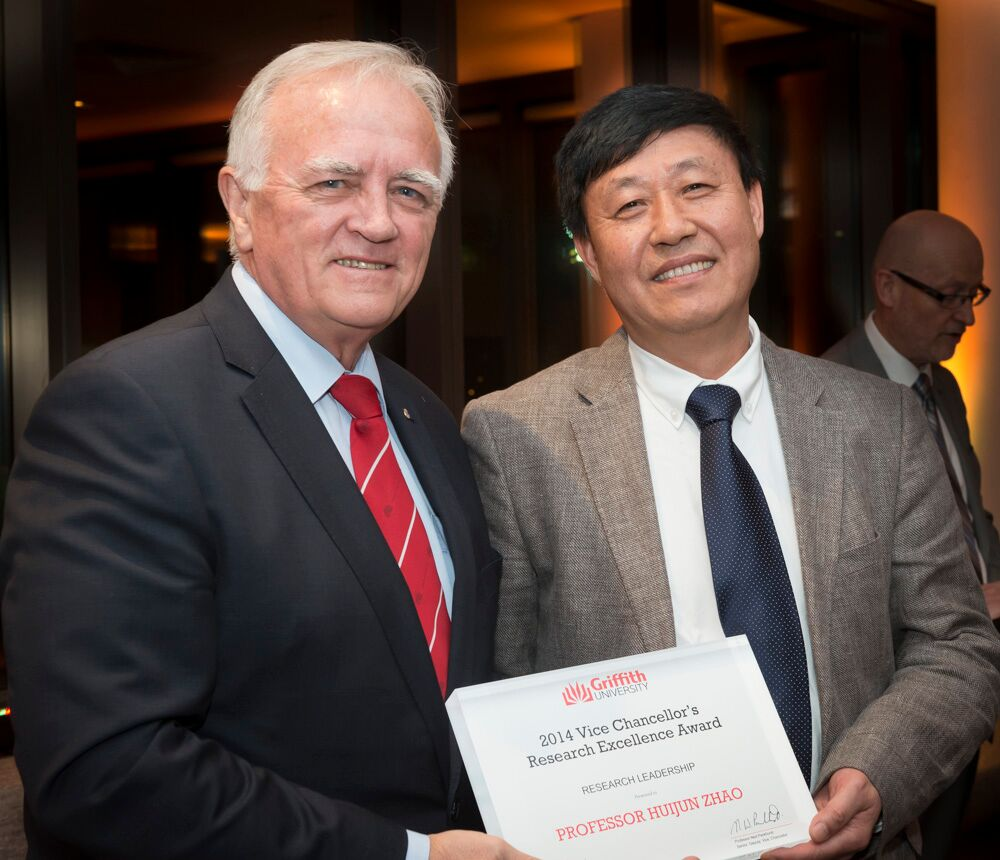 Professor Huijun Zhao, Winner of the Vice Chancellor's Research Excellence Award for Research Leadership.
