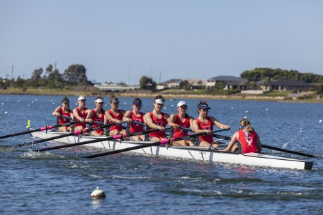 Action on the water during the 2015 University Challenge and Griffith Regatta