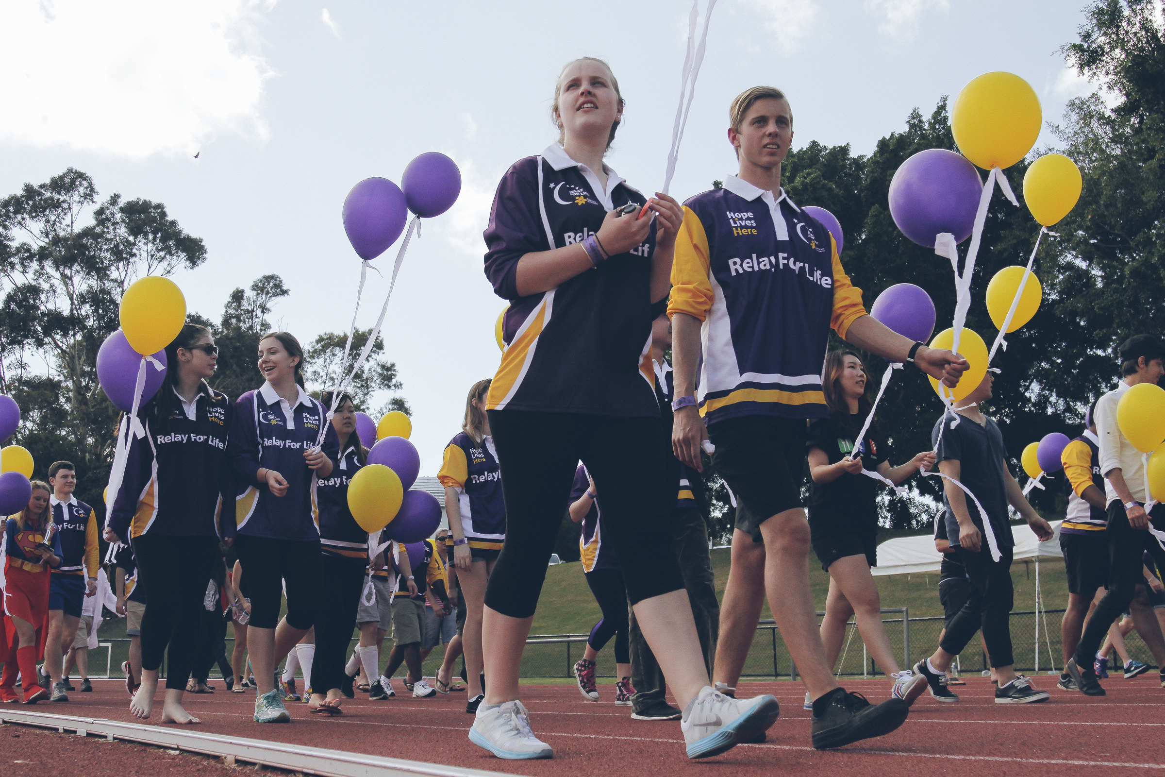 More than 200 participants raised over $28,000 for cancer research at Griffith's Relay for Life event.