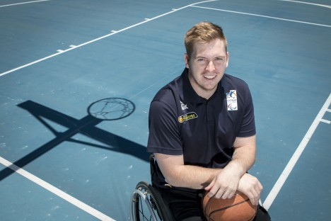Matt McShane a member of Australian Wheelchair Basketball Team