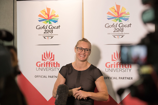 Andrea Hams, a lecturer at Griffith's School of Allied Health Sciences, will compete in weightlifting at GC2018.