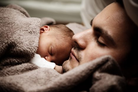baby and father