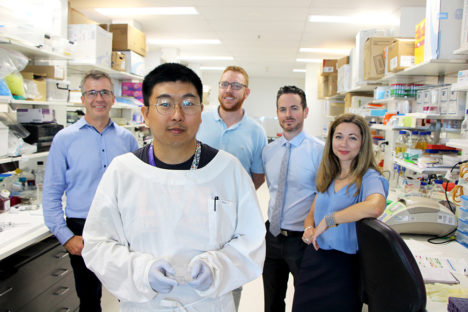 Associate Professor James St John, Dr Mo Chen, Dr Matt Barton, Dr Brent McMonagle and Associate Professor Jenny Ekberg.